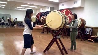 Hachijo Taiko routine by Kixtine @ Asano Taiko LA