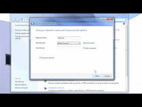 Setting Up an Ad-Hoc Network in Windows 7