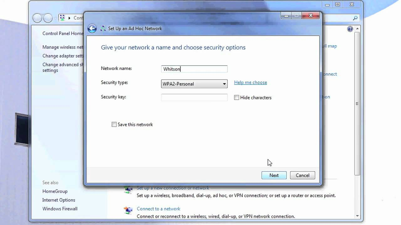 a place to call home setting dial up internet connection setup in windows 7 Setting Up an Ad-Hoc Network in Windows 7