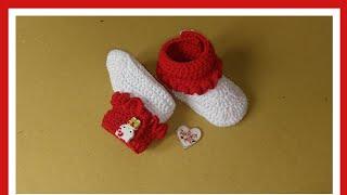 Download lagu Merajut sepatu bayi boot merah putih MP3