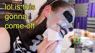 Download Taking off a face full of holo glitter (R.I.P my face) Mp3 and Videos