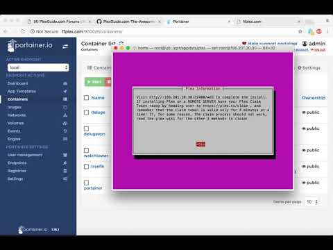 PlexGuide: Docker & Portainer Demo!