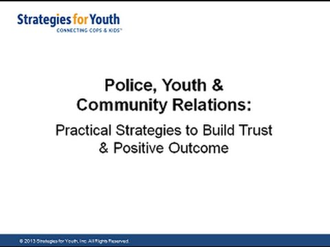 Webinar: Practical Strategies to Build Trust Between Police and Youth