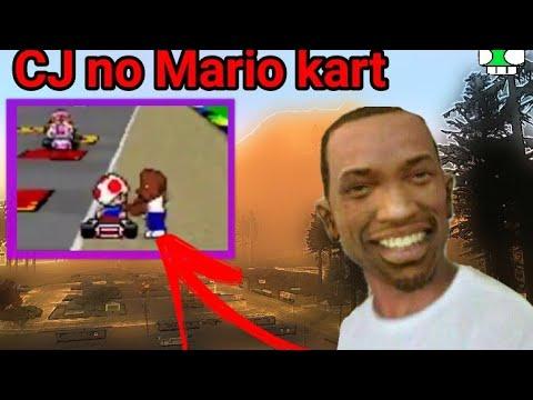 CJ Do GTA San Andreas  No Mario Kart - Memes De Games #6