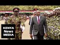 President Uhuru Kenyatta INSPECTS guard of honour at KDF passing out parade in Eldoret !!!