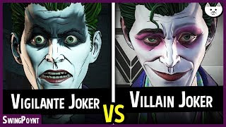 VIGILANTE JOKER vs VILLAIN JOKER Intro Scenes - Telltale Batman The Enemy Within Episode 5 Choices