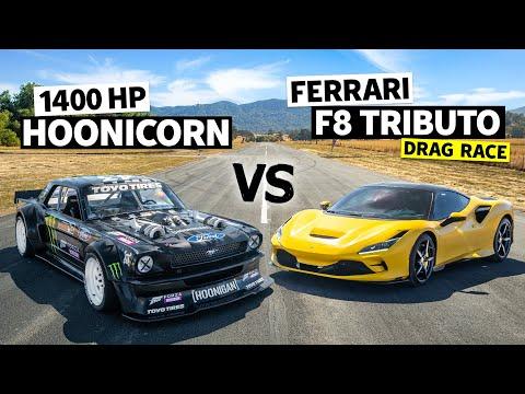 Ford Vs Ferrari! 710hp F8 Tributo Daily Driver Vs Ken Block's Hoonicorn // Hoonicorn Vs the World
