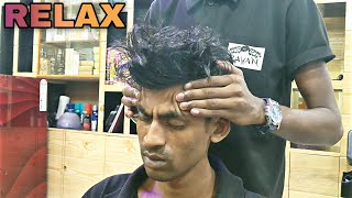 New type Head & Upper body massage therapy by indian barber | Relaxing ASMR