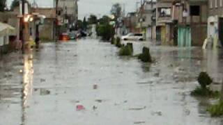 inundacion brutal teacalco Tlaxcala.