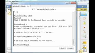 DHCP Services on a Router for the Cisco CCNA - Part 1