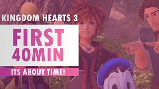 Kingdom Hearts 3 - First 40 Minutes of Gameplay | PS4