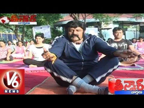 Balayya Babu Yoga || International Yoga Day 2016 Celebrations Across India || Teenmaar News