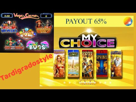 Slot da Bar a Moneta - Vegas Gamer Multigame, My Choice Oro - payout 65%