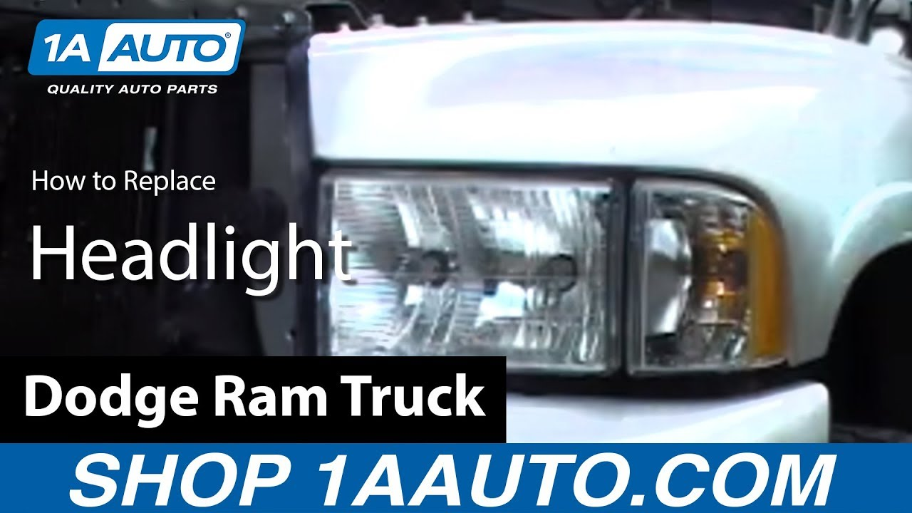 hight resolution of how to install replace headlight dodge ram truck 98 02 1aauto com
