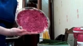 салат шуба по царски. готовим в сервировочном блюде 1,3л tupperware. салат на новый год