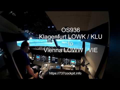 Klagenfurt (LOWK) to Vienna (LOWW) - OS936 - Flightdeck View
