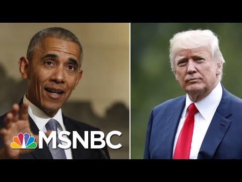 Stephanie Ruhle Fact-Checks Trump's Economy Claims After Obama Tweet | Velshi & Ruhle | MSNBC