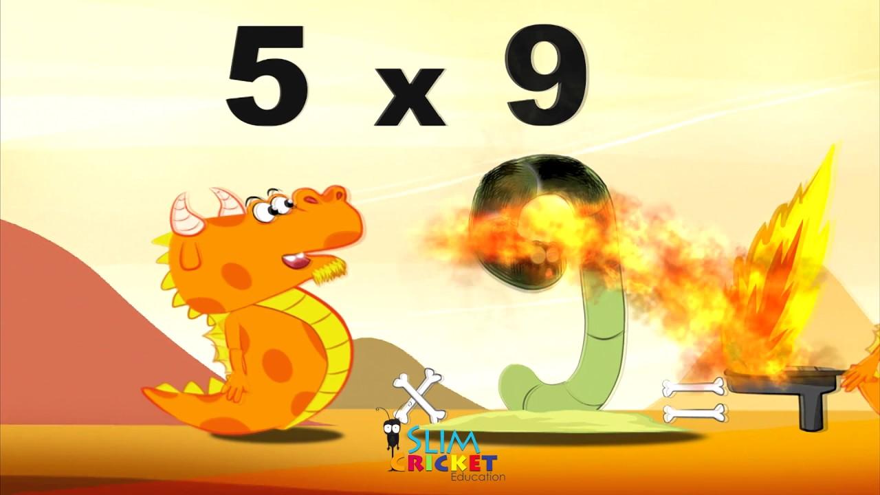 mathemagics multiplication - l u0026 39 histoire de 5x9