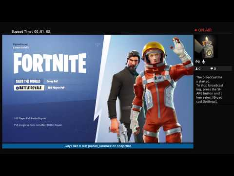 Lets play fortnite Ps4 Laramizzle93's join in Live chat n chill