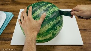 How to Serve a Watermelon in Easy-to-Eat Slices