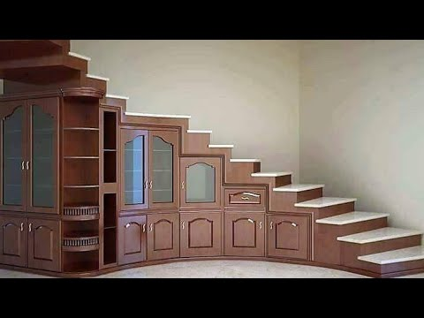 10 GREAT SPACE SAVING IDEAS ,,,,,21st Century  Staircase Storage Solution !!