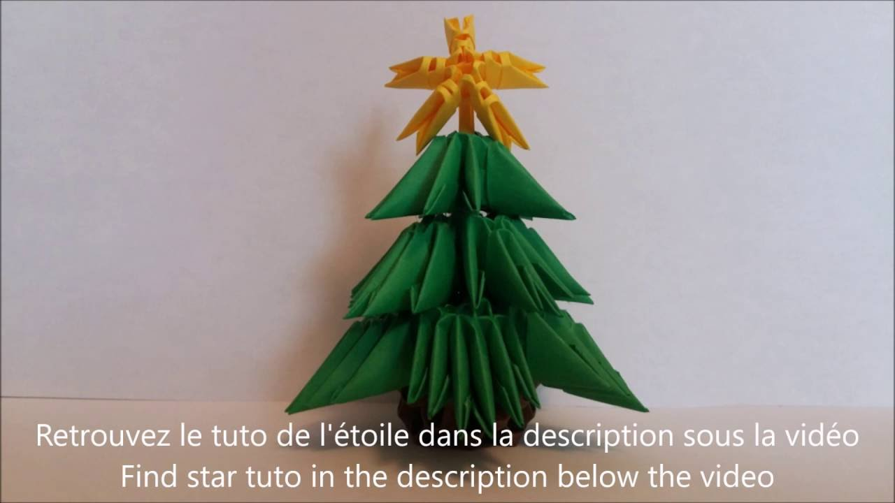 3D origami New Year and Christmas  YouTube
