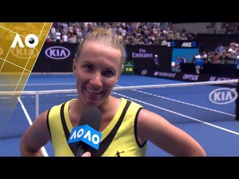 Svetlana Kuznetsova on court interview (3R)  | Australian Open 2017