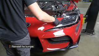 homepage tile video photo for 2020+ Toyota GR Supra 3.0T Performance Heat Exchanger Installation Guide by Mishimoto