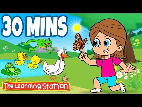 Spring Songs for Children 🌹 Spring is Here with Lyrics 🌹 Kids Spring Playlist 🌹 The Learning Station