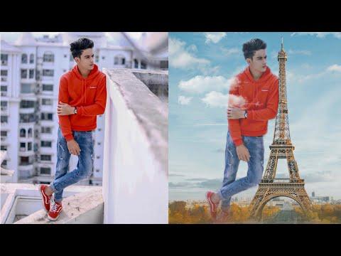 Instagram trending Eiffel Tower editing   picsart tutorial  rahul photo editing