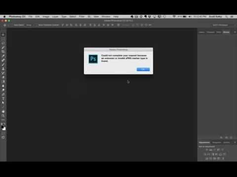 Photoshop Tip What To Do If Your Jpeg Image Wont Open Youtube