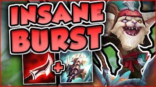 CAN ANYONE SURVIVE THIS ASSASSIN KLED BURST?? BIG DAMAGE KLED TOP GAMEPLAY - League of Legends