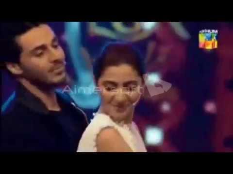 Ahsan Khan Dance With Mahira Khan Zalima Song  LUX Style Award 2018