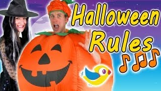 Halloween Rules - Kids Halloween Song(Kids Halloween song - Halloween rules! What are you going to dress up as this Halloween? A superhero? A monkey? A princess? So many choices! :-) Links to ..., 2013-10-10T00:10:41.000Z)