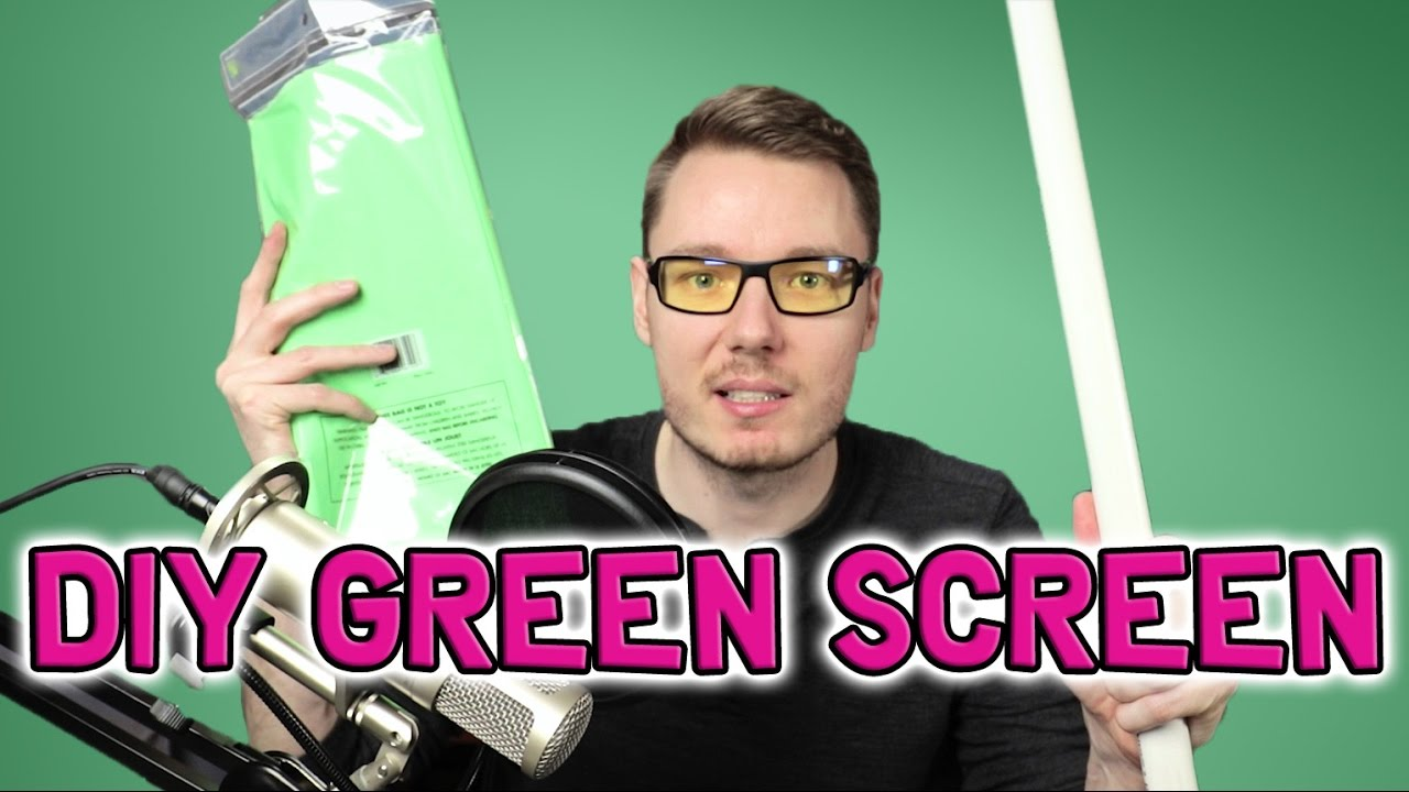 How to Make a Portable DIY Green Screen for Under $20 (PVC & Tablecloth)