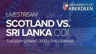 LIVE   Scotland v Sri Lanka   2nd ODI