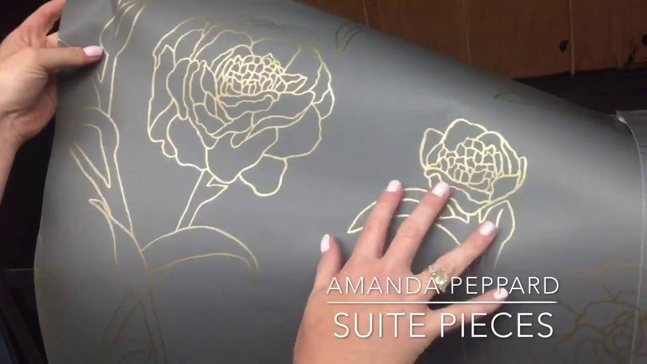 How To Use Tempaper Removable Wallpaper Inside A Cabinet Youtube