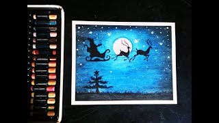 How to draw Santa Claus Oil pastel drawing step by step || Christmas tree/Santa Claus Kids Drawing
