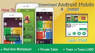 How To Download & Install Android Mobile& Play Ludo STAR : 2017 (New) Akmal Pardasi