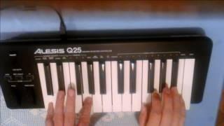 Pink Panther Theme - HENRY MANCINI played on Alesis Q25 MIDI keyboard