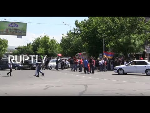 LIVE: Protesters Block Yerevan Central Railway Station As Pashinyan Calls For Nationwide Strike