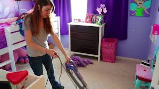 GIRL'S ROOM CLEAN UP POWER HOUR | SPEED CLEANING ROUTINE