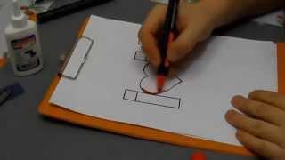 Как сделать 3D открытку на День Святого Валентина своими руками / How to make a 3D paper heart card(3D-валентинка своими руками - это очень просто. Все, что понадобится маркеры, цветной картон, клей и нож для..., 2014-01-01T19:45:32.000Z)