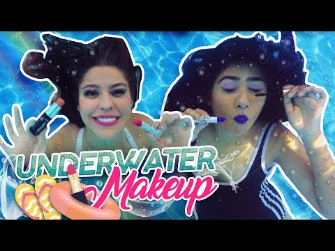 WE DID OUR MAKEUP UNDERWATER! | MUSAS KAREN AND LESSLIE