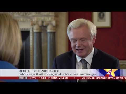 Brexit Secretary David Davis on the EU (Withdrawal) Bill