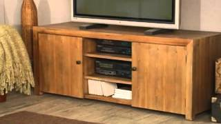 Belham Living Brinfield Rustic Solid Wood Tv Stand - Product Review Video