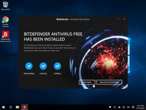 Installing and Using BitDefender Free