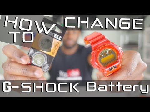 How to change the battery on your g shock watch