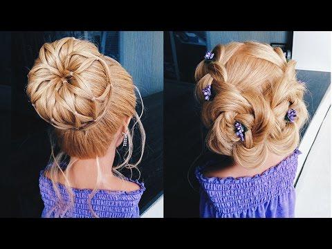 💜  ПРИЧЕСКИ на выпускной в садик 💜 Высокий пучок💜  Cute Little Girls Hairstyle Tutorial 💜  LOZNITSA