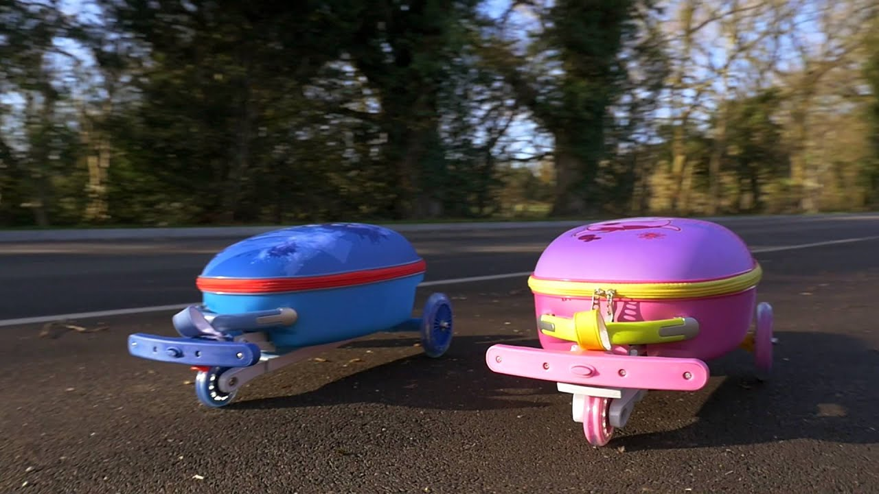 Scooter Air SuitCases - Kids - YouTube
